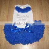 Hot sale baby girls boutique set blue ballet tutu costumes girls ballerina dresses