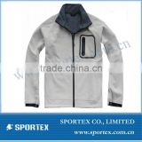 SPT-GS1313 softshell men jacket, softshell men jacket bonded with fleece, side chest pocket softshell men jacket