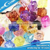 Wholesale Decorative Colorful Plastic Beads Glass Beads and Acrylic Beads With Hole For Jewlery DIY