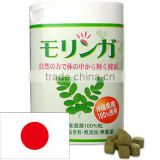 Effective and 100% natural MORINGA tablets as nutrition supplement for healthy diet