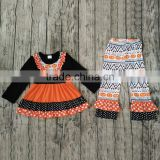 Factory direct Kids Peasant Clothing Set In Western Fashion Girls Boutique Clothes Baby kids Giggle Moon Remake Outfits