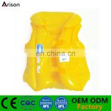 Yellow inflatable swimming pool float life vest made in China