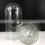 Borosilicate Material Top Quality Clear Glass Doll Dome With Black Base