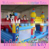 Mickey&Clown kids inflatable playground park toys