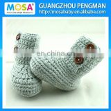 2015 New Handmade Baby Boys Grey Booties Baby Boots size 0-2 Years