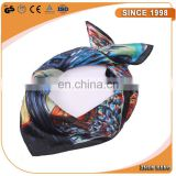 High quality can be custom print colorful silk scarf