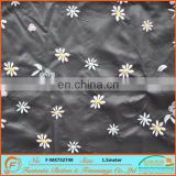 full scale synthetic leather PU machine-embroidered knots small flower