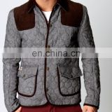 wholesale quilted jackets - 2015 Fashion Mens Quilted Lambskin Leather Moto biker Jacket