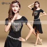 T-5113 Fashion high spandex hot drill designed plus size practice belly dance wears