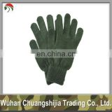 acrylic army/military knitted gloves