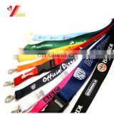 cheap custom lanyards with custom logo printing logo /heat-transfer printing with metal hook /lastic buckle,safety clip