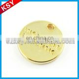 Hot sell custom made metal logo charms in gold