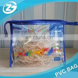 Hotsale Cheap Clear Transparent Vinyl PVC Travel Cosmetic bag Make Up Organizer Bag with Zipper