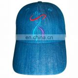 Custom Denim material baseball cap