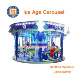 Zhongshan high quality amusement equipment Children Playground Merry go round Ice Age Carousel earn money, rides