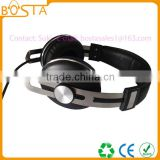 Best design fancy trendy music metal headband silver stereo deep bass good quality headphones