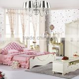 Princess bed in pink antique french style bed wooden bed for girls