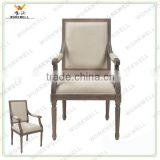 WorkWell high quality fabric modern&elegant banquet chair with Rubber wood legs Kw-D4045