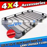 AUTO CAR BLACK OEM POWDER COATED ALUMINIUM ROOF CAGE 4X4 OFF ROAD ROOF RACK FOR LAND CRUISER FJ200 LC200