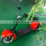 Sunnytimes 60V Electric Scooter Two Wheel Electric Motorcycle Citycoco with tail light and front suspension