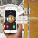 smart home safty gsm magnetic door sensor alarm with voice monitoring by call to mobile phone for household monitoring