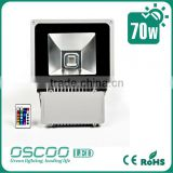 Wholesale High Power 70W RGB LED Flood Light Fixture with Remote from shenzhen Oscar LED