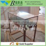 Luxury copper plating jewelry counter, jewelry display counter, glass display counter