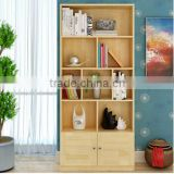 Customize 100% Solid wood ladder shelf furniture, pine wood display book shelf
