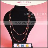 Bulk crystal beaded collar plastic chain necklace