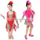 High quality leopard print latin dance costumes in performance wear