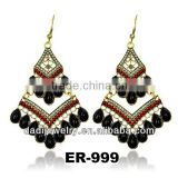 Fashion Europelong Chandelier crystal triangle India drop big beads Earring ear stud Jewelry