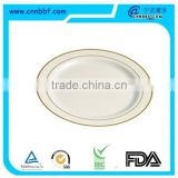 Alibaba China Disposable Round PS Plastic Plate with silver rim                                                                         Quality Choice