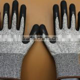 full coating cut resistant glove ,en388 cut resistant hand gloves,cut resistant gloves food