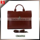 2014 Genuine Leather Men's Briefcase Red Brown Business Case college boys shoulder bags
