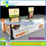 Frozen ice cream/juice/ kiosk, 3C quality food kiosk with water channel