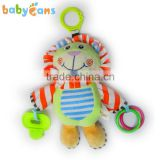 Babyfans Baby Cute Lion Cartoon Shaped Stuffed activity hanging Toys china factory wholesale