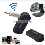 Car Bluetooth V 3.0 Hands Free Music Receiver Wireless Multimedia Receiver Black