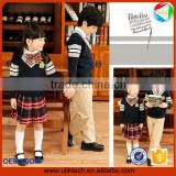 primary school unifroms four pieces hand made sweater school uniform embroidery badge custom
