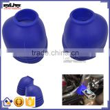 Motorcycle PVC Material BJ-FPC-001-BL High Quality Blue Off Road bike foot pegs Cover For Dirt bike