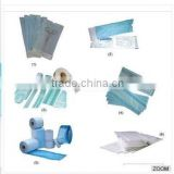 Medical Device Packaging Flat Sterilization Roll Pouch Reel Dual Indicators ETO And Steam Plastic Sterilization Pouches