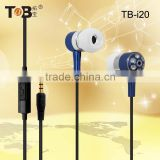 Wholesale bulk buy fashionable in-ear metal cheap earphones with mic for phone/ipod/mp3/mp4/laptop