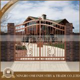 Top sale cheap price wrought aluminum garden door outdoor/courtyard gate aluminum craft main gate double security gates