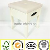 wholesale wood foldable storage drawer stool chair