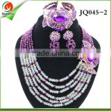 2016 wholesale jewelry African Crystal Beads Jewelry Sets for Nigerian Wedding bracelet set