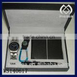nice design fashion and cheap jewelry set for men *with watch wallet pen and key ring jewelry set