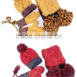 factory wholesale 100% cashmere cable knitted hat scarf glove set