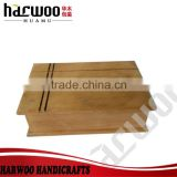 unfinished wooden storage box,simple wooden box with engraved logo,presentation gift packaging box