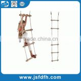HappyPie Playground Climbing Wooden Rope Ladder for Kids Indoor/Outdoor-64 Inch Length                                                                         Quality Choice