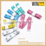Promotional gift plastic textile bulk colorful PVC soft printable tailor tape measure with your logo