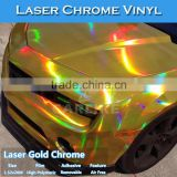 CARLIKE 3 Layers Laser Chrome Holographic Rainbow Wrap Vinyl For Car